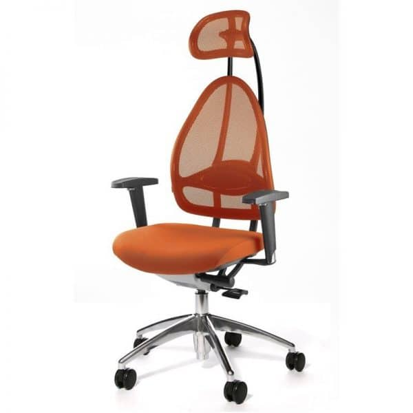 Open Art ergonomic desk chair with headrest