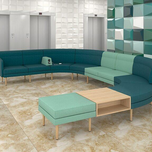 Archipelago curved sofa